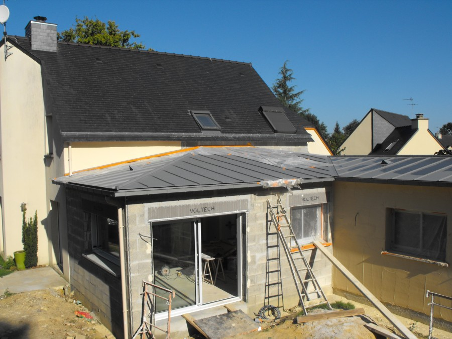Extention paul pichard for Toiture extension maison